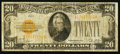 Small Size, Fr. 2402 $20 1928 Gold Certificate. Fine.. ...