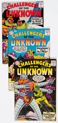 Challengers of the Unknown #12-24 Group (DC, 1960-62) Condition: Average FN/VF.... (Total: 13 Comic Books)