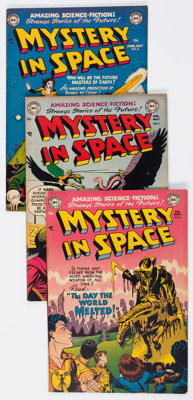 Mystery in Space #6-18 Group (DC, 1952-54) Condition: Average FN+.... (Total: 13 Comic Books)