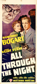 "Movie Posters:Film Noir, All Through the Night (Warner Brothers, 1942). Australian Daybill(13.5"" X 30"").. ..."