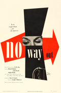 "Movie Posters:Film Noir, No Way Out (20th Century Fox, 1950). One Sheet (27"" X 41"") PaulRand Artwork.. ..."