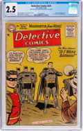 Golden Age (1938-1955):Superhero, Detective Comics #225 (DC, 1955) CGC GD+ 2.5 Cream to off-white pages....