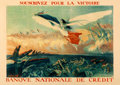 "Movie Posters:War, World War I Propaganda (1916). French 4th National Defense LoanPoster (31.5"" X 44.25"") ""Souscrivez pour la victoire. Banque..."