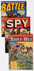 Golden Age (1938-1955):War, Comic Books - Assorted Golden Age War Comics Group of 9 (VariousPublishers, 1951-58) Condition: Average VG.... (Total: 9 ComicBooks)
