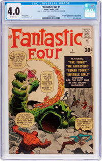 Fantastic Four #1 (Marvel, 1961) CGC VG 4.0 Off-white pages