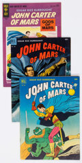 Golden Age (1938-1955):Miscellaneous, John Carter of Mars-Related Group of 4 (Dell/Gold Key, 1952-64) Condition: Average VG/FN.... (Total: 4 Comic Books)