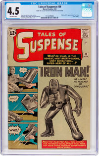 Tales of Suspense #39 (Marvel, 1963) CGC VG+ 4.5 Off-white pages