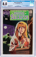Bronze Age (1970-1979):Horror, House of Secrets #92 (DC, 1971) CGC VF 8.0 Off-white pages....