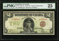 Canadian Currency, DC-26e $2 1923. ...