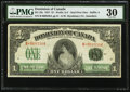 Canadian Currency, DC-23c $1 1917. ...