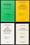 """Movie Posters:James Bond, John Gardner Lot (G.P Putman's Sons, 1980s-1990s). Uncorrected Proof Books (4) (Multiple Pages, 5.25"""" X 8.25""""). James Bond.... (Total: 4 Items)"""