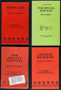 John Gardner Lot (Various, 1980s-1990s). Uncorrected British Proof Books (3) & Uncorrected Proof Book (Multiple...