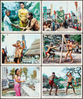 """Movie Posters:Adventure, Tarzan's Three Challenges (MGM, 1963). Color Photo Set of 12 (8"""" X 10""""). Adventure.. ... (Total: 12 Items)"""