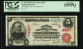 Los Angeles, CA - $5 1902 Red Seal Fr. 589 The Central NB Ch. # (P)8827 PCGS Very Fine 25PPQ