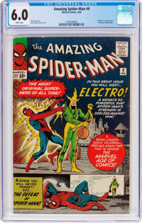 The Amazing Spider-Man #9 (Marvel, 1964) CGC FN 6.0 White pages