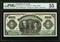 Canadian Currency, DC-18b $1 3.1.1911 PMG About Uncirculated 55.. ...