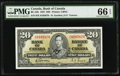 Canadian Currency, BC-25b $20 1937.. ...