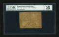 Colonial Notes:Pennsylvania, Pennsylvania October 1, 1773 2s PMG Very Fine 25. A moderatelycirculated example from this mid-Atlantic colony....