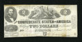 Confederate Notes:1862 Issues, T42 $2 1862. Only honest wear and some foxing graces this mid-gradeConfederate Deuce. Very Fine+....
