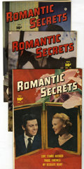 "Golden Age (1938-1955):Romance, Romantic Secrets Group - Davis Crippen (""D"" Copy) pedigree(Fawcett, 1950-52).... (Total: 7)"