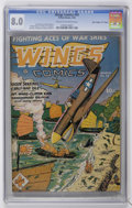 """Golden Age (1938-1955):War, Wings Comics #43 Davis Crippen (""""D"""" Copy) pedigree (Fiction House,1944) CGC VF 8.0 Cream to off-white pages...."""