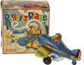 """Antiques:Toys, Marx Rollover Plane in Original Box . Tin toy with lithographed design, 5.5"""" long with a 6"""" wingspan. Maker's mark p..."""