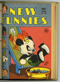 New Funnies #90-101 Bound Volume (Dell, 1944-45)