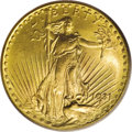 Saint-Gaudens Double Eagles: , 1931 $20 MS64 PCGS. Ex: Park Avenue Collection. This near-Gem ishighly lustrous with frosty yellow-gold surfaces that are ...