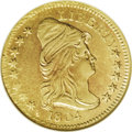Early Quarter Eagles: , 1804 $2 1/2 14 Star Reverse AU58 NGC. Breen-6119, BD-2, R.4. Thisis an impressive green-gold example with nearly full lust...