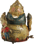 """Antiques:Toys, Fontaine Fox The Powerful Katrina Wind-up Toy.. Tin litho,5"""" tall, made in Germany, and copyright date 1923.. Con..."""