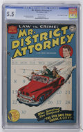 "Golden Age (1938-1955):Crime, Mr. District Attorney #1 Davis Crippen (""D"" Copy) pedigree (DC, 1948) CGC FN- 5.5 Off-white pages...."