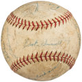 Autographs:Baseballs, 1938 Detroit Tigers Team Signed Baseball (21 Signatures).. ...