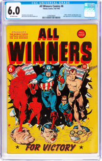All Winners Comics #6 (Timely, 1942) CGC FN 6.0 Off-white pages