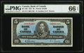 Canadian Currency, BC-23b $5 1937.. ...
