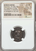 Ancients:Roman Imperial, Ancients: Maximian (AD 286-310). AR argenteus (3.39 gm). NGC ChoiceVF 5/5 - 3/5, scratches....