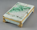 Asian:Chinese, A Chinese Carved Jadeite Box Mounted with 14K Gold, Retailed byBlack, Starr & Frost, circa 1920. Marks: BLACK, STARR &FR...