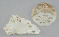 Asian:Chinese, Two Chinese Carved White Jade Pendants, Qing Dynasty. 1-7/8 incheshigh x 3-3/8 inches wide (4.8 x 8.6 cm) (larger). ... (Total: 2Items)