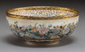 Asian:Japanese, A Japanese Satsuma Earthenware Thousand Flowers Bowl , MeijiPeriod. Marks: (Shimazu Kozan). 2 inches high x 4-3/4 inches di...