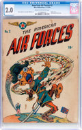 Golden Age (1938-1955):War, The American Air Forces #2 (Wm. H. Wise & Co., 1944) CGC GD 2.0Cream to off-white pages....
