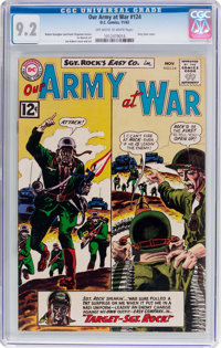 Our Army at War #124 (DC, 1962) CGC NM- 9.2 Off-white to white pages