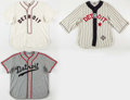 "Baseball Collectibles:Uniforms, Negro League ""Ebbets Field Flannels"" Replica Jerseys Lot of 3. ..."
