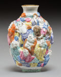 Asian:Chinese, A Chinese Porcelain Figural Snuff Bottle, Republic Period, circa1912-1949. 3 inches high (7.6 cm). ...