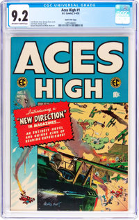 Aces High #1 Gaines File Pedigree 7/12 (EC, 1955) CGC NM- 9.2 Off-white to white pages