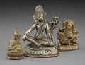 Asian:Chinese, Three Miniature Tibetan Bronze Figures, 18th-19th centuries. 3-5/8inches high (9.2 cm) (tallest). ... (Total: 3 Items)