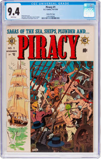 Piracy #1 Gaines File Pedigree 8/12 (EC, 1954) CGC NM 9.4 White pages