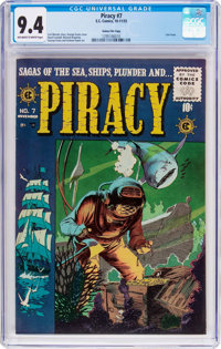 Piracy #7 Gaines File Pedigree 8/12 (EC, 1955) CGC NM 9.4 Off-white to white pages
