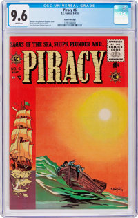 Piracy #6 Gaines File Pedigree 8/12 (EC, 1955) CGC NM+ 9.6 White pages