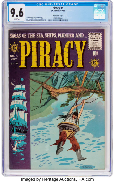 Piracy #5 Gaines File Pedigree 8/12 (EC, 1955) CGC NM+ 9.6 White pages....