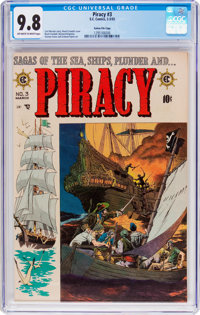 Piracy #3 Gaines File Pedigree 8/12 (EC, 1955) CGC NM/MT 9.8 Off-white to white pages