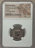Ancients:Ancient Lots  , Ancients: ANCIENT LOTS. Roman Imperial. Ca. AD 238-249. Lot of two (2) AR antoniniani. NGC Choice XF.... (Total: 2 coins)